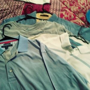 4 Tommy Hilfiger LG shirt hardy worn. like new